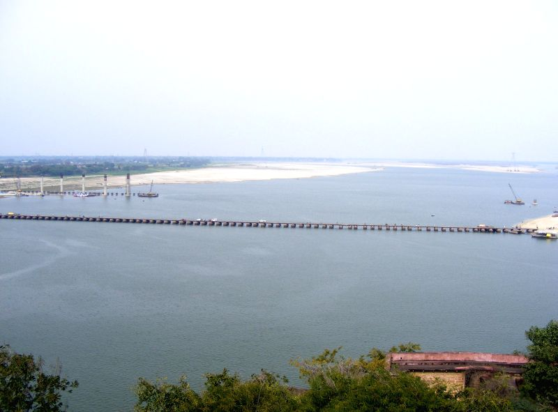 A view of the Ganga river as seen from the Chunar Fort in Mirzapur district of Uttar Pradesh on Feb 25, 2015.