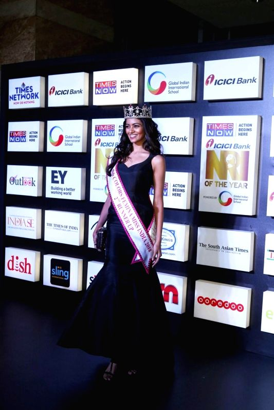 Miss India 2nd RunnerUp 2018 Shreya Rao Kamavarapu at the NRI of the Year Awards 2018 in Mumbai on July 11, 2018. - Shreya Rao Kamavarapu