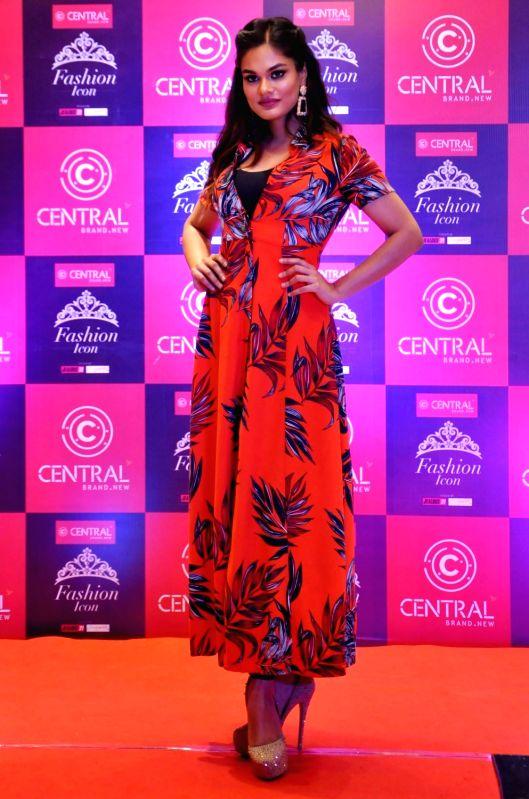 "Miss India International 2014, Noyonita Lodh during ""Central Fashion Icon, Walk To Fame"" in Kolkata, on July 18, 2018."