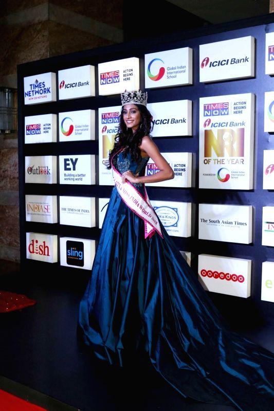 Miss India World 2018 Anukreethy Vas at the NRI of the Year Awards 2018 in Mumbai on July 11, 2018.
