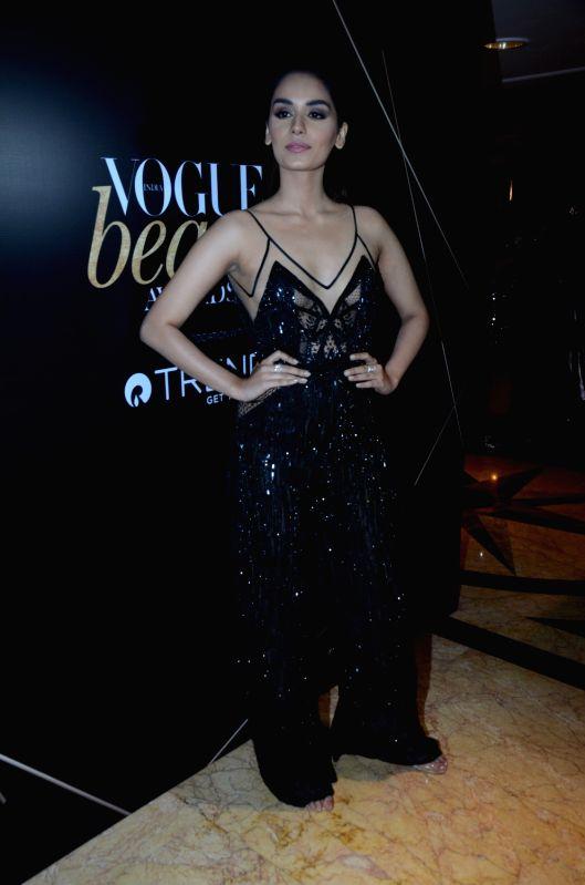 "Miss World Manushi Chhillar at the red carpet of ""Vogue Beauty Awards"" in Mumbai on July 31, 2018."