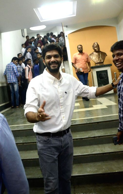 MNS chief Raj Thackeray's son Amit arrives to attend a meeting of Maharashtra Navnirman Vidyarthi Sena in Mumbai on July 11, 2014.