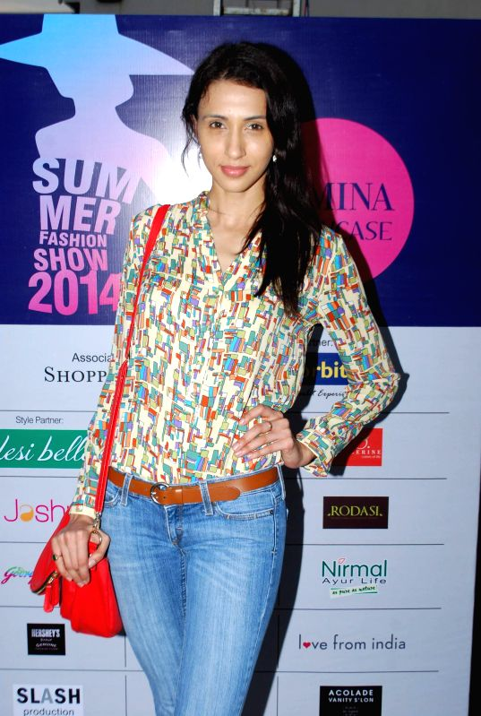 Model Alesia Raut during the Femina Festive Showcase 2014 in Mumbai, on May 17, 2014. - Alesia Raut