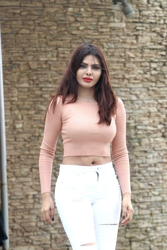 Model and actress Sherlyn Chopra seen at a hotel in Mumbai's Juhu on July 21, 2018. - Sherlyn Chopra