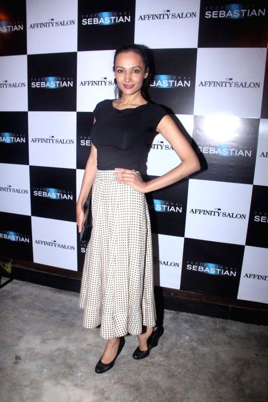 Model Dipannita Sharma during the launch of Affinity Salon, in Mumbai on May 24, 2016. - Dipannita Sharma