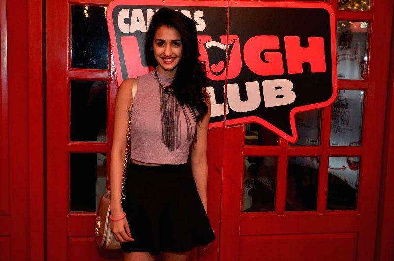 Model Disha Patani at Comedian Nitin Mirani's performing stand-up comedy at Canvas laugh Club in Mumbai on Jan 10, 2015. - Disha Patani