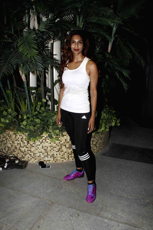 Model Sandhya Shetty during Fit Fest, a self defense and awareness session in Mumbai on Dec 6, 2015. - Sandhya Shetty