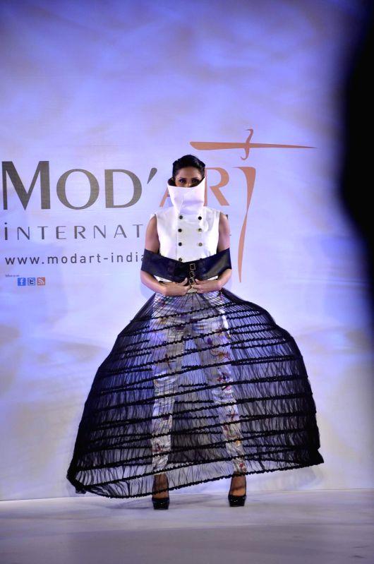 Models at Mod art International presents the Graduating Fashion Show on 28th May, Crystal Ballroom, Hotel Sea Princess, Juhu, Mumbai.