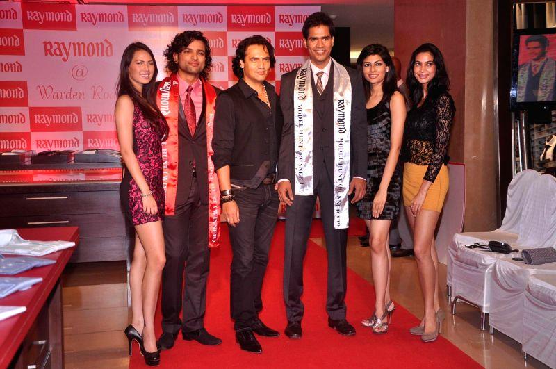 Models at Raymond Model Hunt in Mumbai.