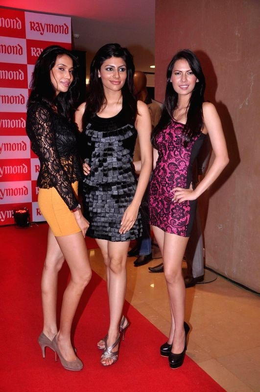 Models at Raymond Model Hunt in Mumbai.