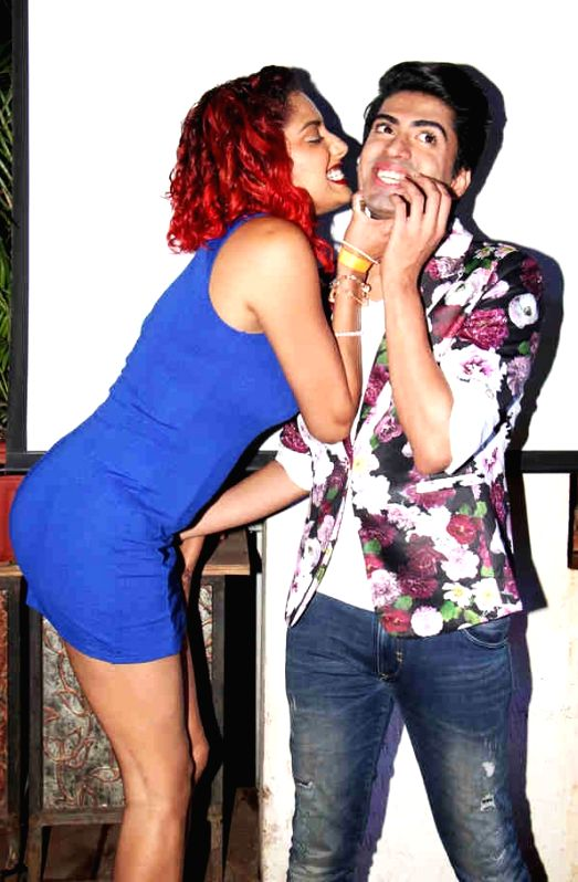 Models Diandra Soares and Sushant Divgikar at the post wedding celebrations of Sambhavna and Avinash in Mumbai on July 28, 2016.