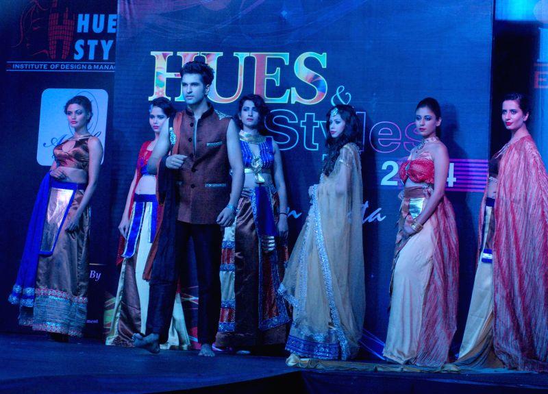 Models during `Fashion Fiesta` in New Delhi.