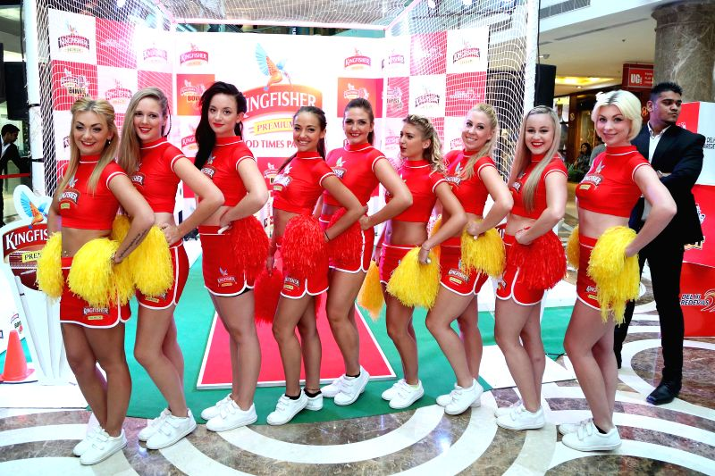Models during Kingfisher Bowl Out held at a shopping mall in Gurgaon on May 5, 2014.