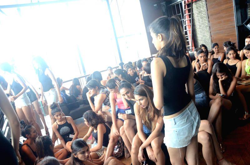 Models during Lakme Fashion Week audition in Mumbai, on June 13, 2017.