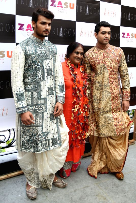 Models during launch of `Kriti` in Kolkata on Aug 21, 2014.