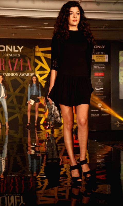 Models during the Grazia Young Fashion Awards 2014 in Mumbai on 13th April 2014.