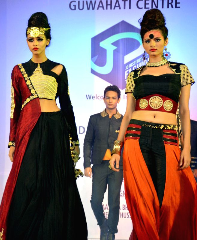 Models walk the ramp during 9th JD Design Fest 2014 at ITA Machkhowa centre in Guwahati  on July 27, 2014.
