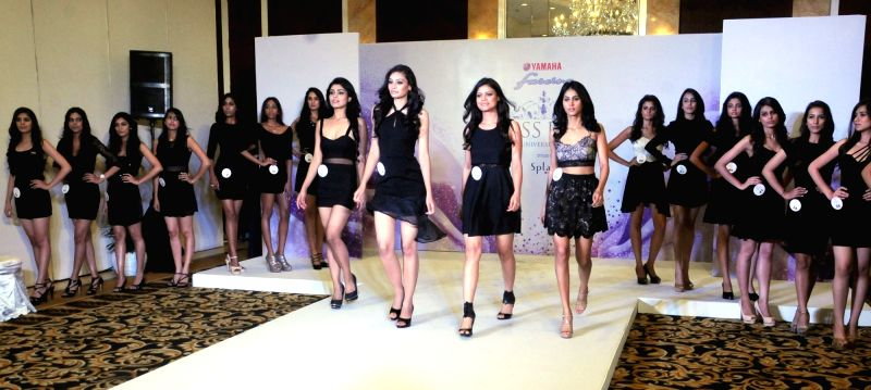 Models walk the ramp during the audition of Miss Universe 2016, 'Miss DIVA', in New Delhi on July 17, 2016.