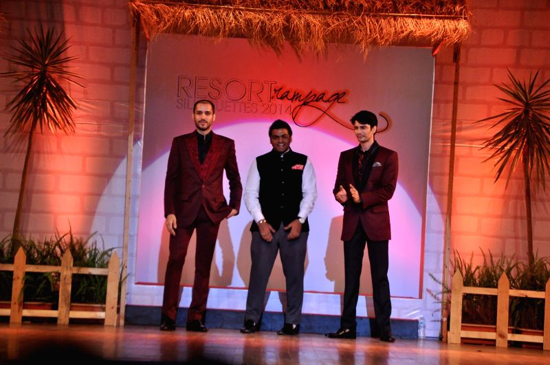 Models walks on the ramp during the Resort Rampage- Silhouettes 2014, annual fashion show organised by the students of B D Somani Institute of Art and Fashion Technology in Mumbai, on May 4, 2014.