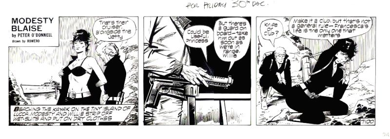 Modesty Blaise in her long-running popular comic strip