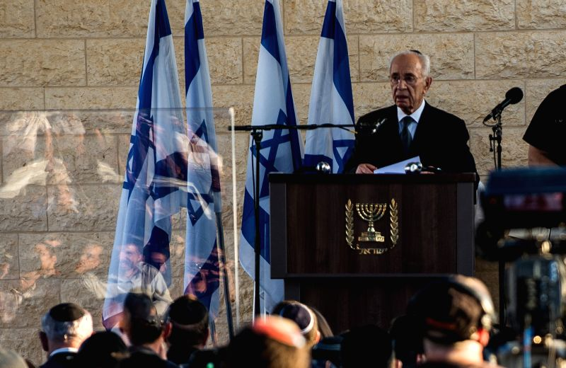 MODI'Israeli President Shimon Peres addresses a joint funeral for the three Israeli teens at a cemetery in Modi'in near Jerusalem, on July 1, 2014. The three Israeli ... - Benjamin Netanyahu