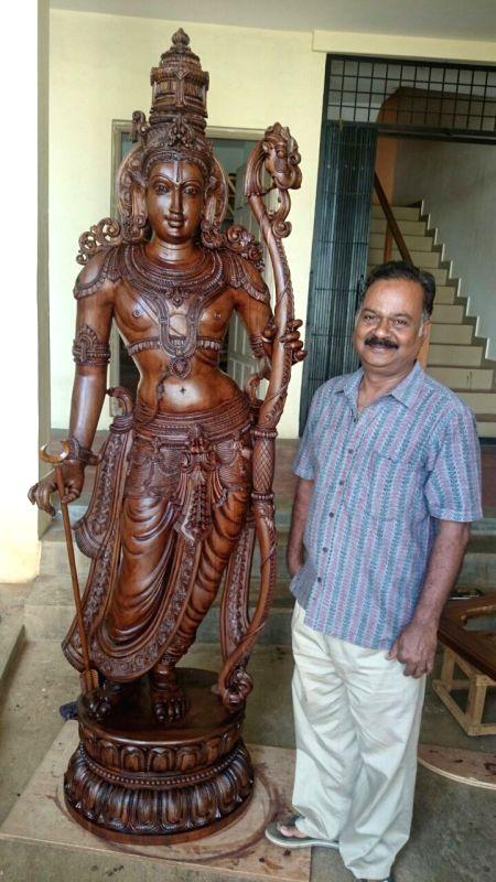Modi's Ram idol gift at bhoomi puja sculpted by Bengaluru artisan.