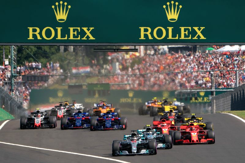 MOGYOROD, July 30, 2018 - Drivers compete during the Formula One Hungarian Grand Prix race in Mogyorod, Hungary on July 29, 2018.