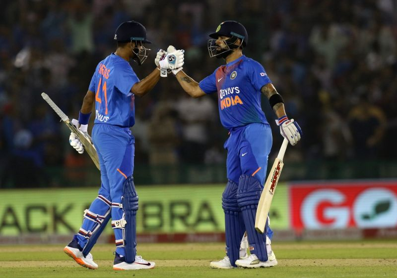 Mohali: Indian skipper Virat Kohli celebrates his half century during the 2nd T20I match between India and South Africa at Punjab Cricket Association IS Bindra Stadium in Mohali on Sep 18, 2019. (Photo: Surjeet Yadav/IANS)