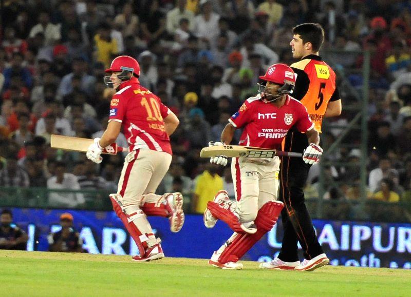 Kings XI Punjab batsman Wriddhiman Saha in action during an IPL-2015 match between Sunrisers Hyderabad  and Kings XI Punjab at  Punjab Cricket Association Stadium in Mohali, Punjab on April ... - Wriddhiman Saha