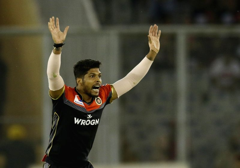 Mohali: Royal Challengers Bangalore's Umesh Yadav during the 28th match of IPL 2019 between Royal Challengers Bangalore and Kings XI Punjab at Punjab Cricket Association IS Bindra Stadium in Mohali on April 13, 2019. (Photo: Surjeet Yadav/IANS)