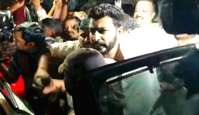 Mohammed Nalpad, son of Congress leader NA Haris comes out of jail after he was granted bail in Bengaluru, on June 14, 2018.