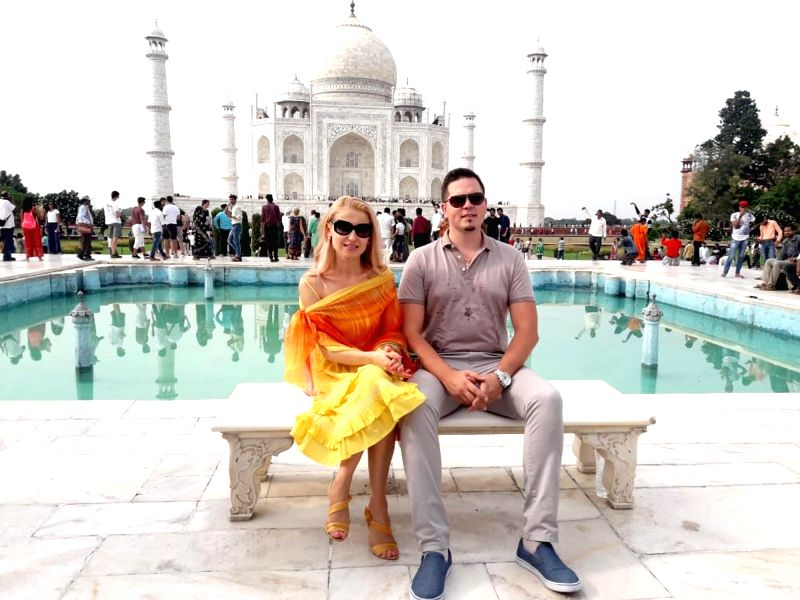 Moldova Foreign Affairs and European Integration Minister Tudor Ulianovschi during his visit to the Taj Mahal, in Agra on Aug 12, 2018. - Tudor Ulianovschi