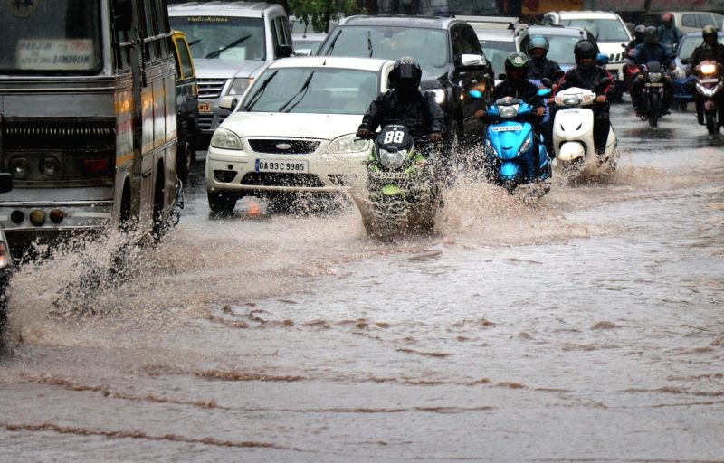 Monsoon arrives in Panaji on June 8, 2018.