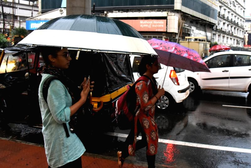 Monsoon rains in Kochi, Kerala on May 31, 2017.
