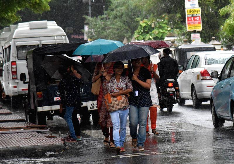Monsoon rains lash Kochi on June 2, 2017.