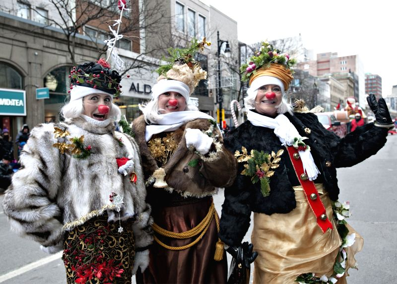 Montreal (Canada): Montreal's annual Santa Claus parade is held in Montreal's downtown core on Nov. 22, 2014. There are more than 1,000 performers including acrobats, dancers and clowns on various ...