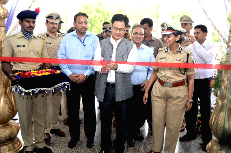 MoS Home Affairs Kiren Rijiju during his visit to Sardar Vallabhbhai Patel National Police Academy in Hyderabad on July 6, 2014.