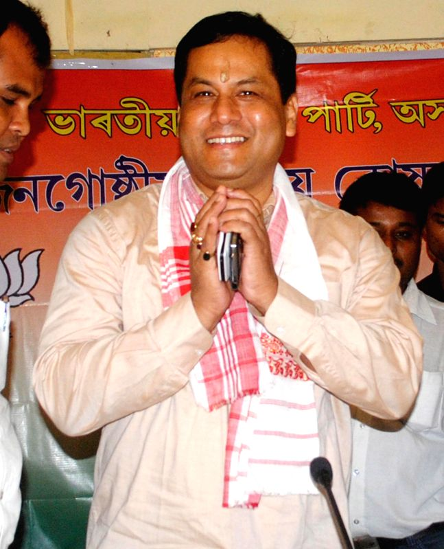 MoS Skill Development, Entrepreneurship, Youth Affairs and Sports (Independent Charge) Sarbananda Sonowal during a round table meeting with 26th ethnic group leaders in Guwahati on July 25, 2014.