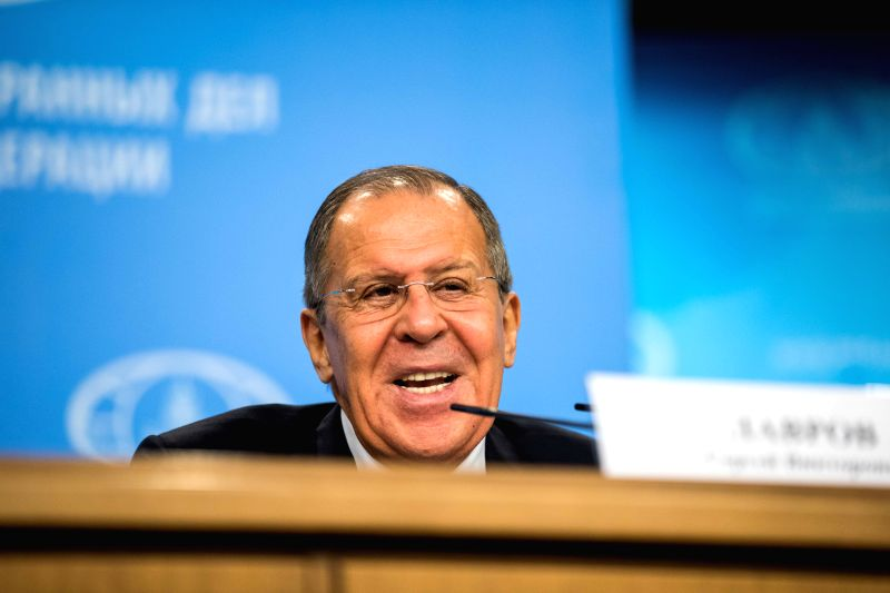 MOSCOW, Jan. 15, 2018 - Russian Foreign Minister Sergei Lavrov holds the annual press conference in Moscow, Russia, on Jan. 15, 2018. (Xinhua/Wu Zhuang) - Sergei Lavrov