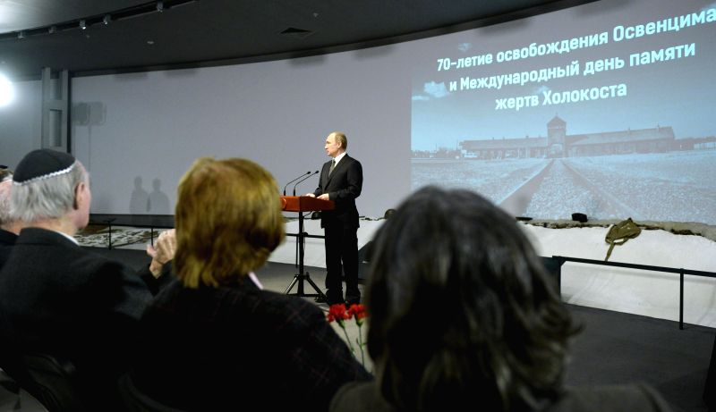 Russian President Vladimir Putin speaks at the Jewish Museum during a ceremony marking the 70th anniversary of the liberation of the Auschwitz concentration camp in .