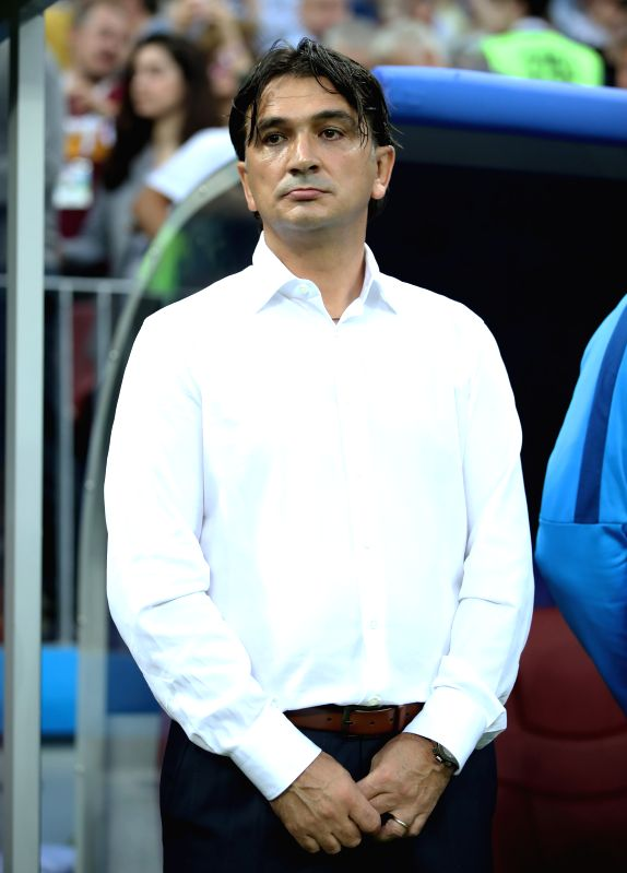 MOSCOW, July 11, 2018 - Head coach Zlatko Dalic of Croatia is seen prior to the 2018 FIFA World Cup semi-final match between England and Croatia in Moscow, Russia, July 11, 2018.(Image Source: Xinhua/Wu Zhuang/IANS)