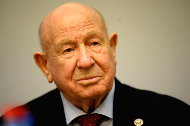 Former Soviet cosmonaut Alexey Leonov speaks for the 50th anniversary of his spacewalk at the Space Memorial Museum in Moscow, Russia, March 19, 2015. Leonov was ...