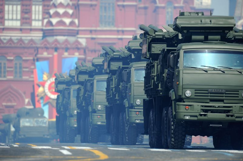 Military vehicles participate in the Victory Day Parade marking the 69th anniversary of the defeat of Nazi Germany in WWII, in Moscow's Red Square May 9, 2014. Russian