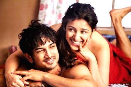 Movie stills of film Shuddh Desi romance.