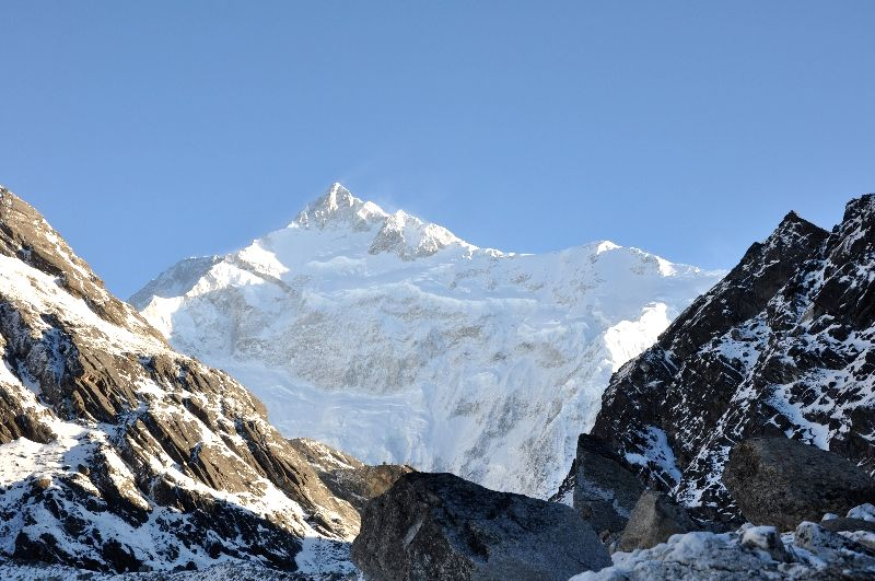 Mt. Khangchendzonga (also called Mt. Kanchenjunga), which towers at 8,586 metres above sea level and is the third highest in the world. (Photo: Courtesy, Government of Sikkim)