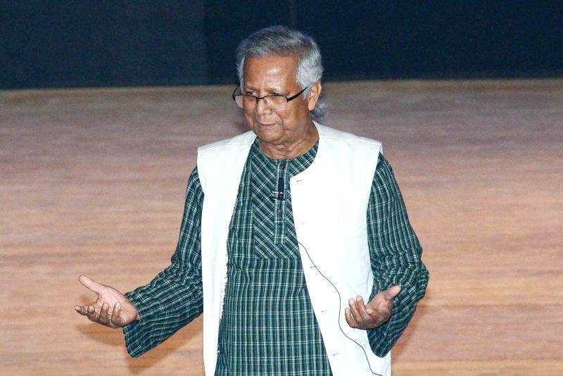 Muhammad Yunus. (Photo: Kuntal Chakrabarty/IANS)