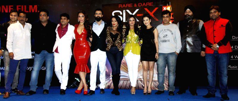 Hemant Pande, Shadab, Chandrakant, Sofia, Ashmit, Andria, Rashmi, Anushmitra, Manjeet, Sarvjit and Sandeep Shukla during the Mahurat of film Six X in Mumbai, on March, 01, 2015.