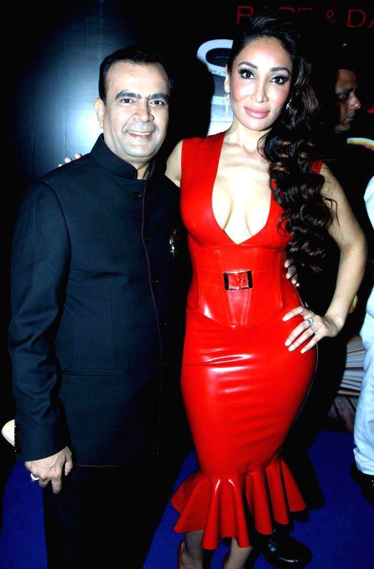 Yogesh Lakhani and Sofia Hayat during the Mahurat of film Six X in Mumbai, on March, 01, 2015.