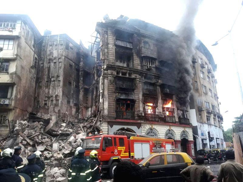 :Mumbai: A major fire broke out in Kothari building in Fort area of Mumbai on June 9, 2018. (Photo: IANS).