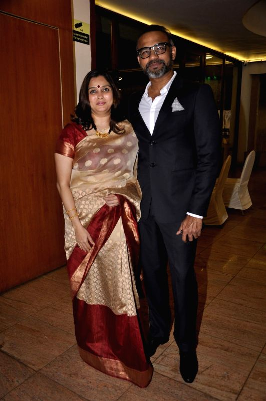 Abhinay Deo, filmmaker and Founder and director of Abhinay Deo ventures with his wife during the launch of Resovilla, holiday home (phase 2) in Mumbai, on March 2, 2015.